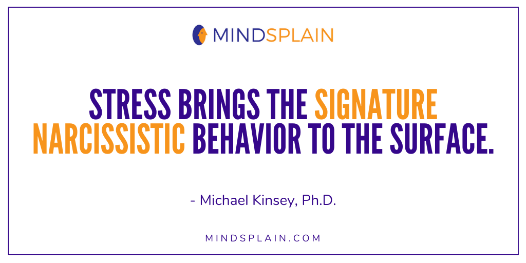 Stress brings the signature narcissistic behavior to the surface.  #NarcissisticAbuse #NarcissisticPersonalityDisorder #MentalHealth<br>http://pic.twitter.com/sbbV2o11Z4