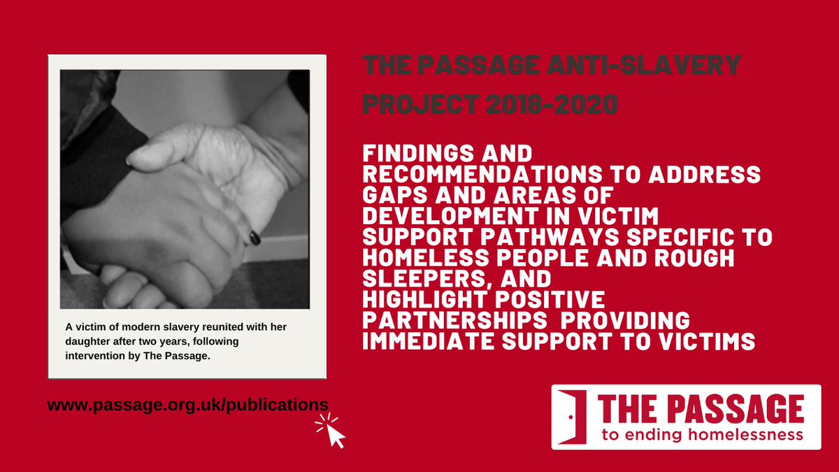 NEW: The Passage Anti-Slavery Project 2018-2020 Findings and Recommendations from the first two years of The Passage Anti-Slavery Project. Read the report here passage.org.uk/publications/ #ModernSlavery #EndTrafficking