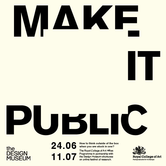 Ready to think outside the box? The Make It Public festival goes digital as @RCADesRes students confront the challenge of being creative when confined to the box of our homes. Find out more > fal.cn/38MY5 #DesignFromHome @RCA