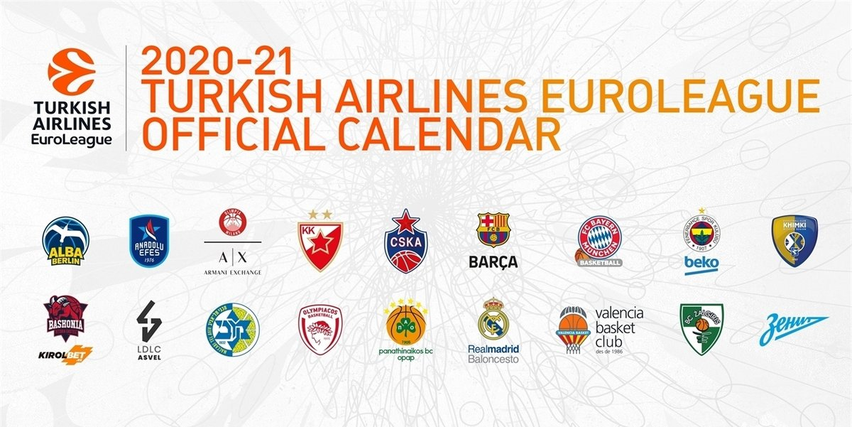The 2020-2021 @EuroLeague regular season schedule announced! 🗓️  Zalgiris will play the first 3 games on a road, as the home season will kick off with a game against @AnadoluEfesSK on October 15th at @ZalgirioArena.   Read more 👉 https://t.co/T8WZThARij https://t.co/4HpVT4zGWM
