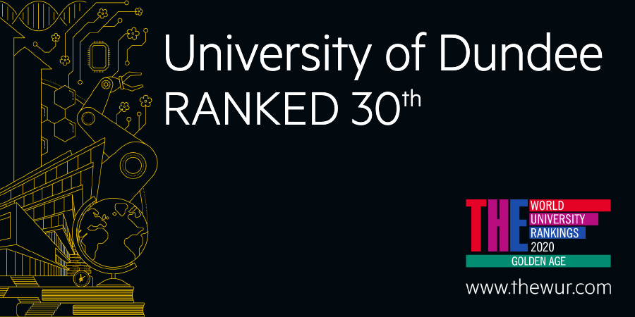 The University of Dundee has been placed 30th in the world in the 2020 Times Higher Education (THE) Golden Age University Rankings. 🎉 #THEunirankings #GoldenAgeUni  https://t.co/JdzbquXm7j https://t.co/Fw2GU0MKJh