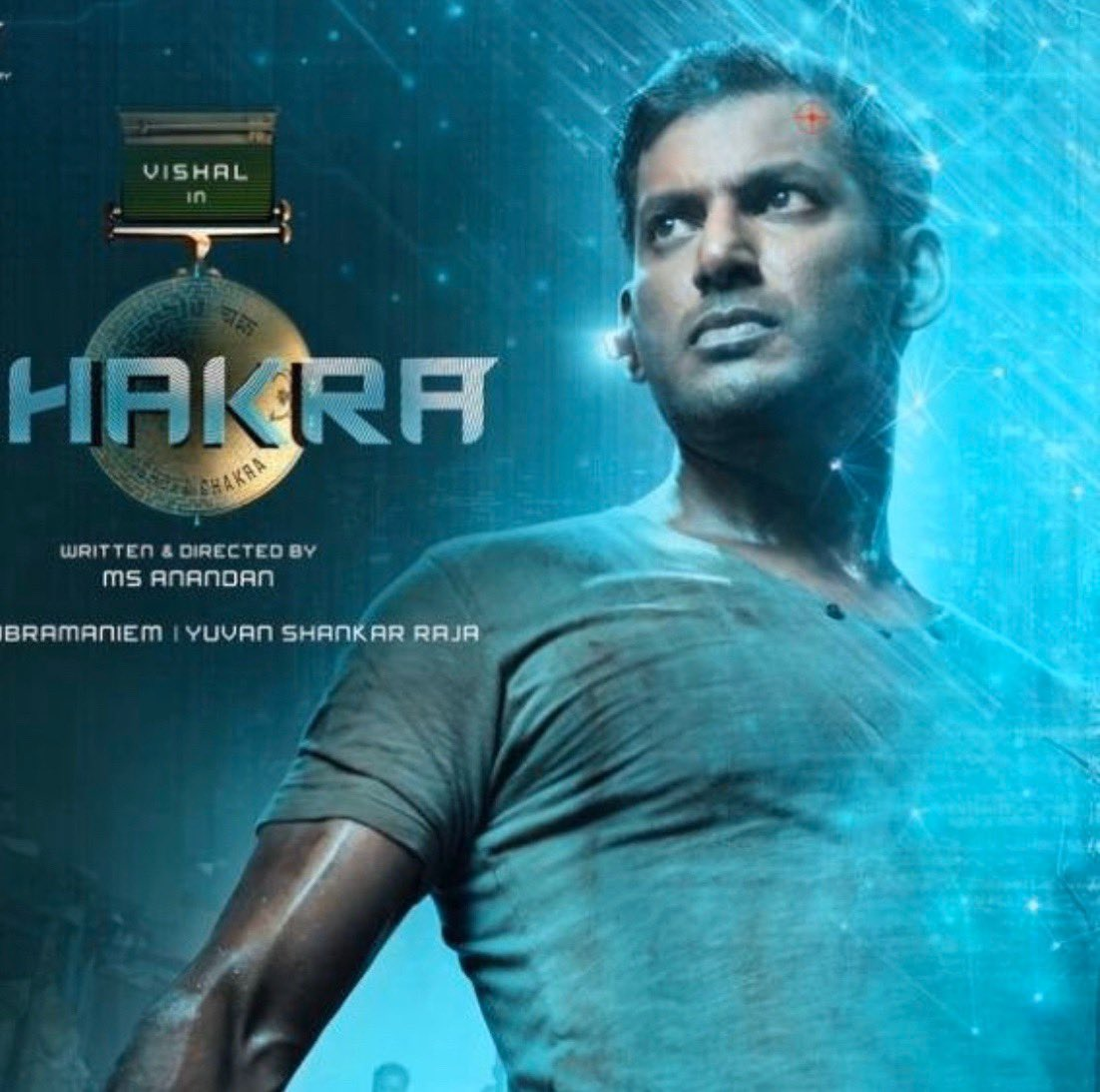 After trending glimpse @VishalKOfficial 's sensational #ChakraTeaser will be out this Saturday and it will be released by 4 celebrities from 4 different languages   @ReginaCassandra @ShraddhaSrinath @thisisysr @manobalam @srushtiDange @iamrobosankar @AnandanMS15  @johnsoncinepro https://t.co/jlJJ0tx0tB