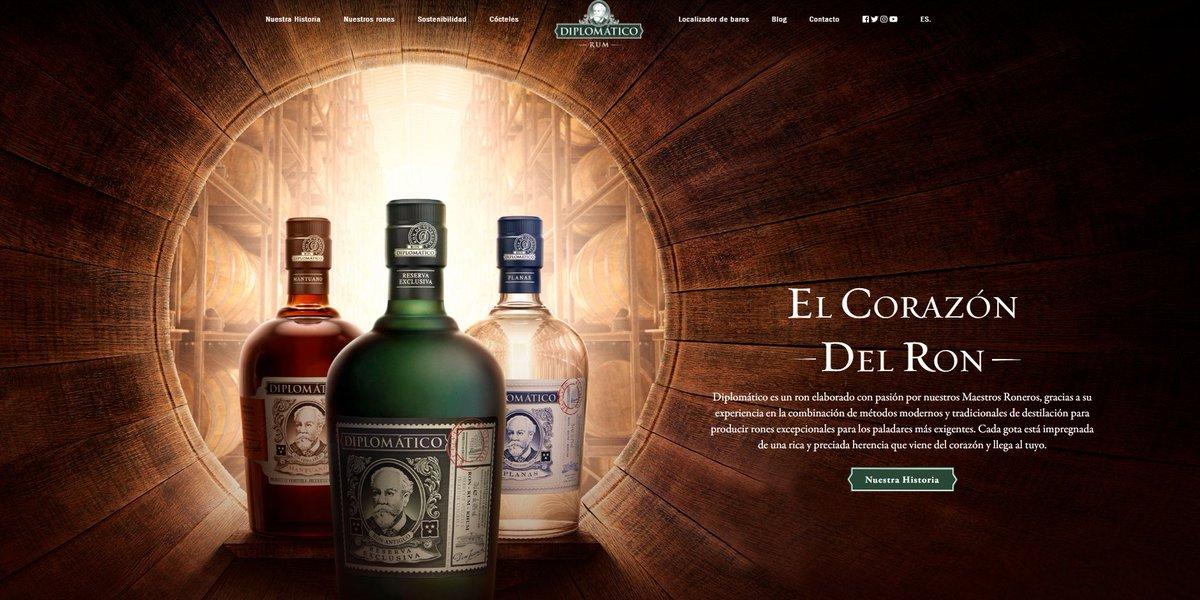 🥃@RonDiplomatico estrena su nueva #web corporativa internacional gracias a @darwinsnoise. La web, entre otras cosas, cuenta con un #localizador de #bares ⬇️⬇️  🔗https://t.co/qNyTA38evL https://t.co/JF5bNKpZWN