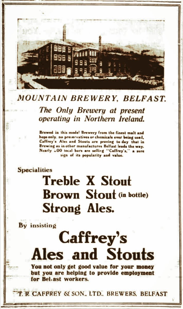 I dare say it's not the Caffrey's Ale that most remember... (1929 - via @BNArchive)