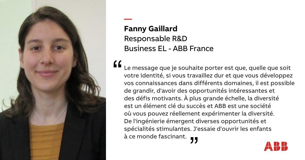 À l'occasion de l'International Women in Engineering Day #INWED20, #ABB rend hommage aux collaboratrices du groupe. Découvrez le témoignage de Fanny Gaillard, responsable R&D au sein de la business Electrification en France #ShapeTheWorld #WomenInSTEM #MakingAWorldOfDifference https://t.co/pYrIpTfMQp