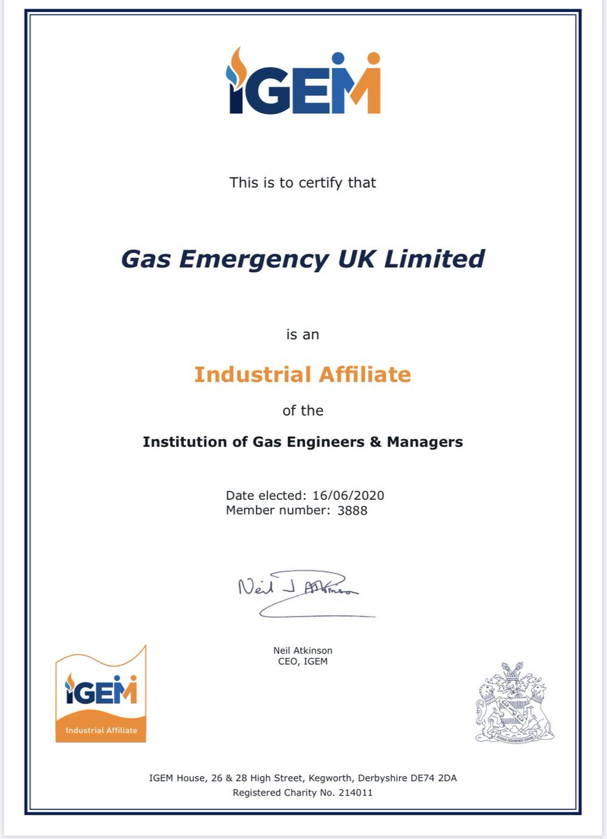 Our sister company @gas999uk makes its commitment to industry today with @IGEMGi
