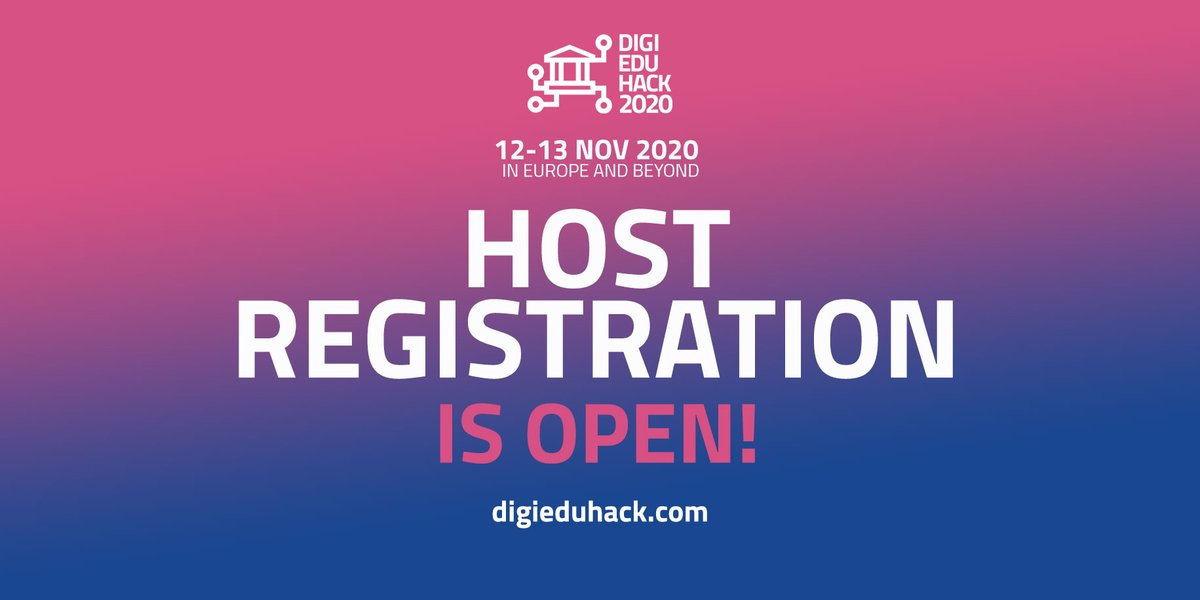 👊Take action! 👊 Tackle current and future #digitaleducation challenges, join #DigiEduHack as a host! #Free #inclusive #accessible No coding skills needed. Join the movement, be part of the change. Host registration is now open digieduhack.com #weredefinelearning