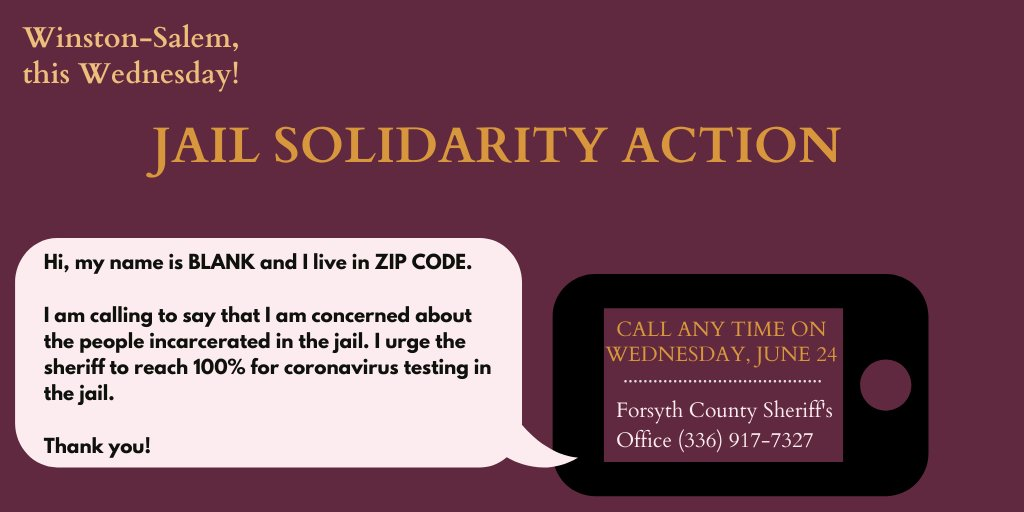 Send some support towards our folks in Forsyth County jail!   @poiwinston is doing great work amplifying the concerns and dangers faced by incarcerated people https://t.co/nsHPZf1NwO
