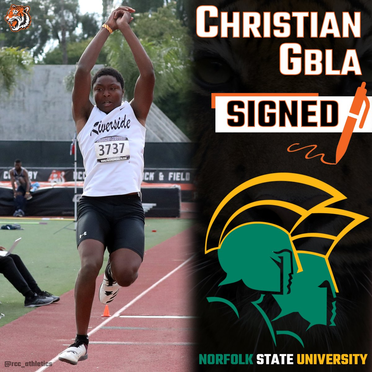 @rcctigermenstfxc: Christian Gbla leaps into a scholarship to attend Norfolk State University. #TheCommunitysCollege https://t.co/DbLE8W7xAT