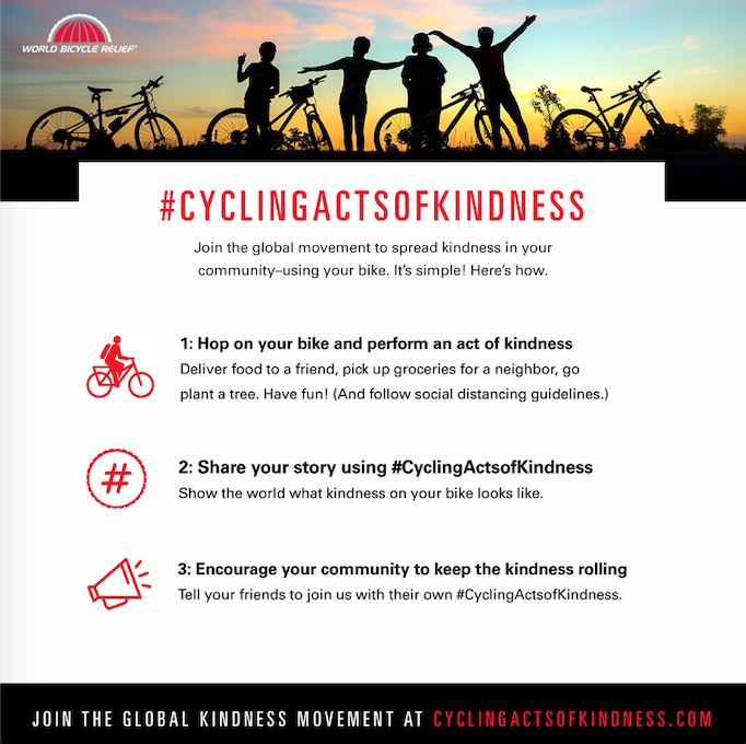 Join us in spreading acts of kindness by using your bike! @worldbicyclerelief  #CyclingActsofKindness #visitbentonville #bikebentonville #bentonvillear #oztrailsnwa https://t.co/eKGFJzc2HG