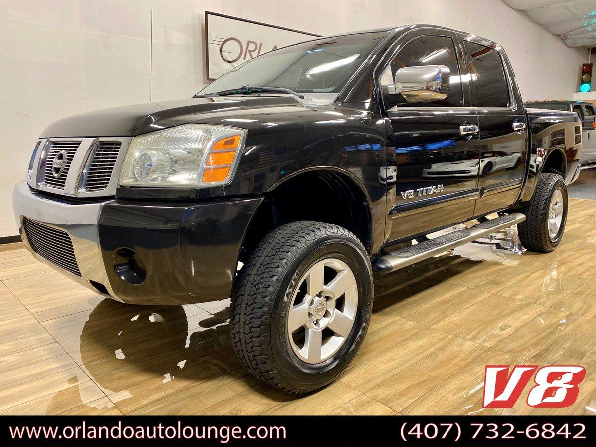 2007 NISSAN TITAN CREW CAB - SE PICKUP 4D 5 1/2 FT https://www.orlandoautolounge.com/inventory/nissan/titan%20crew%20cab/6197/… #trucksforsale #orlandotrucks #floridatrucks #floridatrucksforsale #centralfloridatrucks #sanford #florida #orlando #orlandoautolounge #trucklife #trucknationpic.twitter.com/lynVXB55D2
