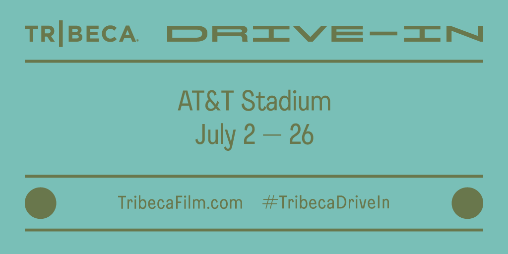 The @Tribeca Drive-In is bringing the big screen to #ATTStadium's backyard this summer to help get communities back together safely through a shared cinematic experience. 🎥    #TribecaDriveIn Tickets are limited — get yours at https://t.co/W4un8tfQPp TODAY! https://t.co/oQYUZZakDR