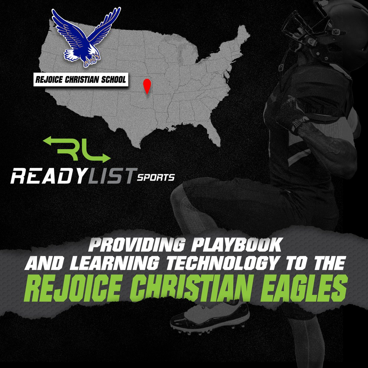 Extremely competitive program out of Oklahoma has joined the ReadyList Sports family. @RejoiceFootball went 13-1 the last 2 seasons, with consecutive trips to the playoff semifinals. #Getinyourplaybook #Football @CoachMarley https://t.co/q2TPXEHwpR