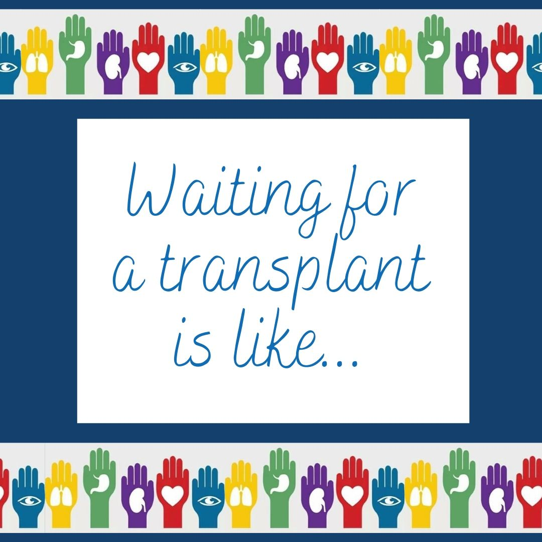 """Finish this sentence...  """"Waiting for a transplant is like..."""" #DonateLife #Wyoming #CheckYes #transplantrecipient pic.twitter.com/a1Lgk4CEtL"""
