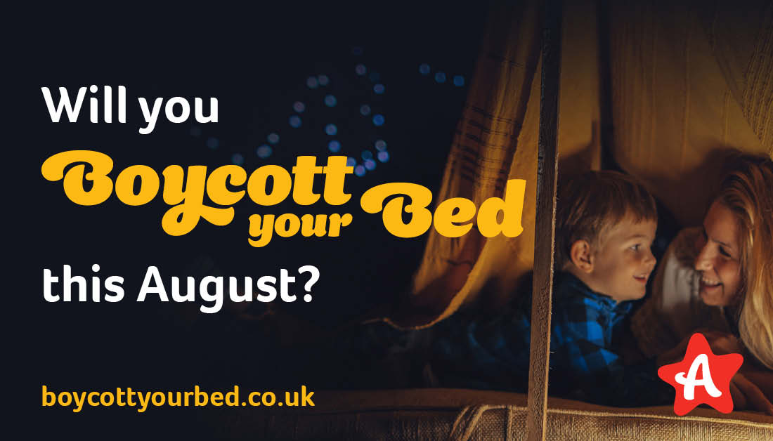 The coronavirus crisis means replacing Byte Night with a new event for 2020 - and we would love you to be involved. #BoycottYourBed this August. Spend a night in the most unusual place in your home to give children safe and happy childhoods  Sign up today: https://t.co/rG45ssqaG0 https://t.co/ieSXgyVuT4
