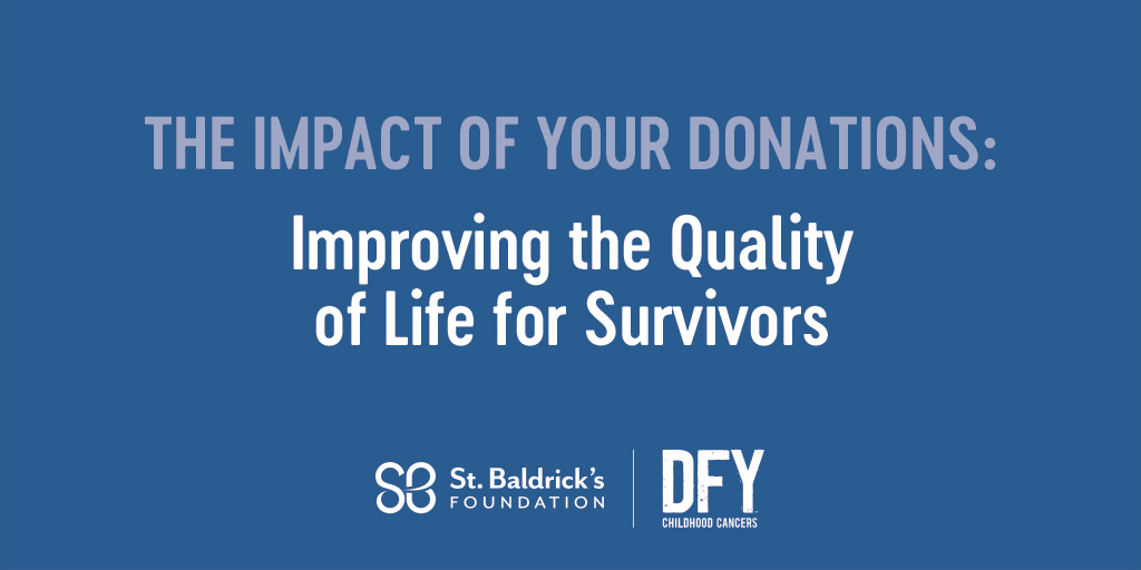 During Cancer Survivors Month we're highlighting 4 areas of research St. Baldrick's funds to help survivors – the 2nd of which is research focused on improving quality of life for survivors. See how your donations are making an impact. Read more: https://t.co/g75GxMrT1H https://t.co/LdP59y4j86