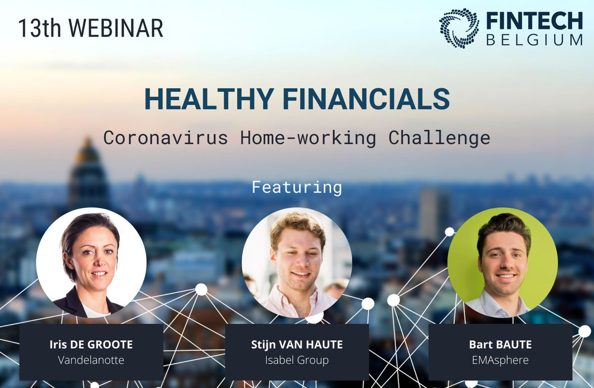 How to keep a healthy #cashflow? Join us this Friday for our webinar on Healthy #Financials!  Our speakers from Vandelanotte, @IsabelGroup and @EMAsphere will be on stage to share their experiences and to answer all your questions.  Not registered yet? 😊  https://t.co/KJ7GvNLgxC https://t.co/quCrFNR3Je