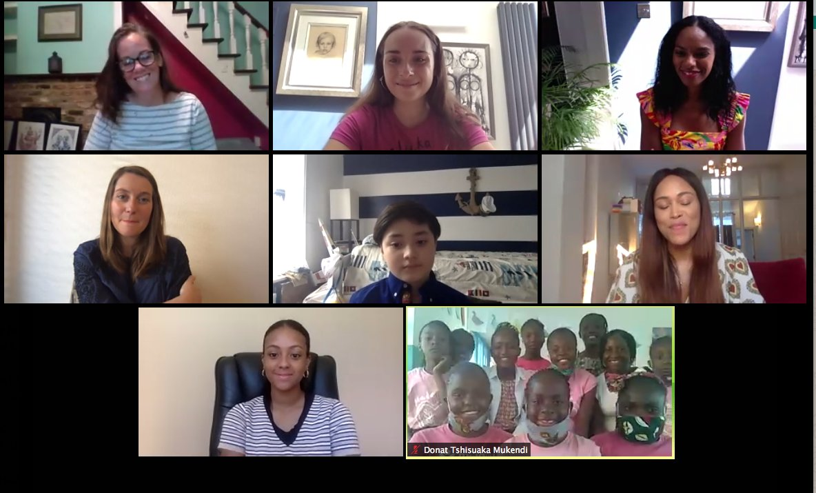 @MalaikaDRC webinar with @TheRealEve is on! An hour of happiness with all the #MalaikaFamily @Noellacc