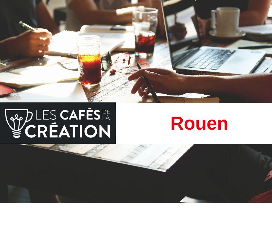 Vous avez une idée pour créer une entreprise et vous avez besoin de réponses pour lui donner vie ? RDV aux #CafésDeLaCréation pour échanger avec un réseau d'experts jeudi 2 juillet > #Rouen (8h30-11h) au Café de l'Echiquier Infos : https://t.co/lSQ8Yi9vKq  #Entrepreneur #startup https://t.co/qzJF7NB0uq