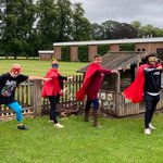 There are super heroes about!  That's right, the Reception teachers