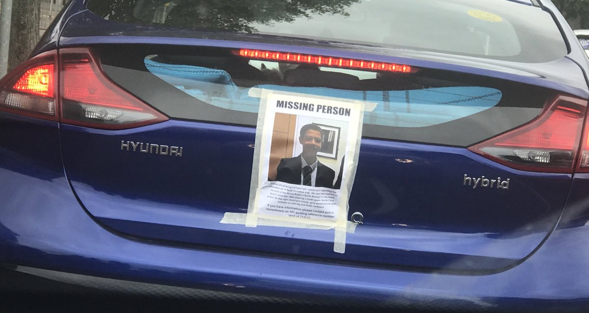 Was just behind this car... Great idea to spread the message... #FindNoah