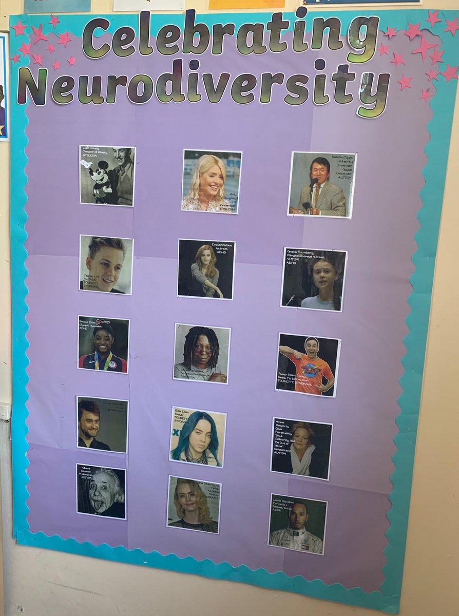 New display for the TA room 😊 #celebrating #Neurodiversity