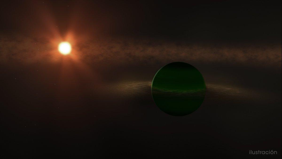 📣¡Alerta, descubrimiento!📣 Durante más de una década, los astrónomos han buscado planetas en órbita alrededor de AU Microscopii, una estrella cercana tan joven que aún está rodeada de un disco de deshechos remanente de su formación. Conoce a AU Mic b: go.nasa.gov/31oSd6r