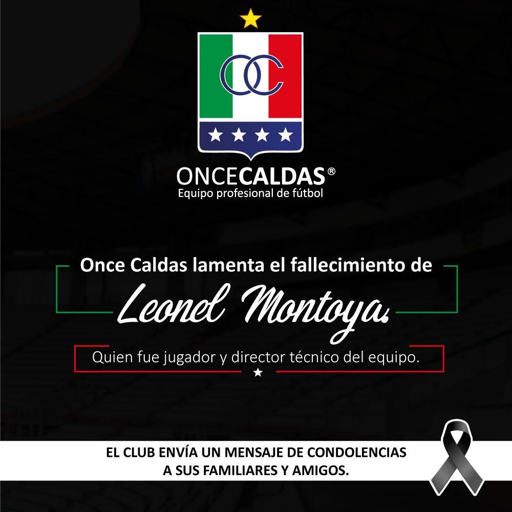 Mensaje de condolencias por la muerte de Leonel Montoya, quien fue jugador del blanco en 1963 y dirigió al equipo en 1988. Paz en su tumba. https://t.co/0x9lGB7Ph9