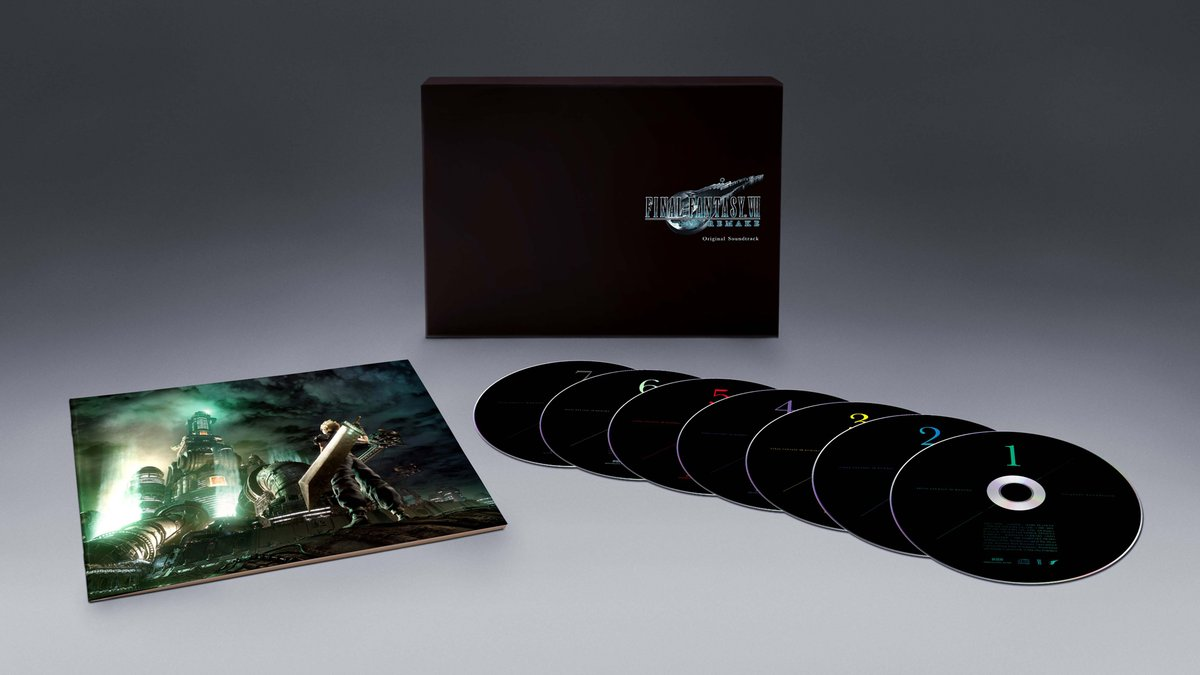 🎶 The #FinalFantasy VII Remake Original Soundtrack Standard Edition 📀 Over 150 tracks across 7 CDs 📅 July 31, 2020  Pre-order it from the @SquareEnix Store now! #FF7R  ↪️ https://t.co/hlD78yJNmq https://t.co/cLYlkkm1sD