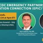 Image for the Tweet beginning: Please join CDC Emergency Partners