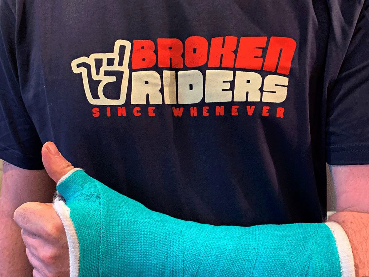 Broken Riders is the rider-owned brand that's here to help you get through the tough times. #brokenriders #mtb #CelebrateTheFail 📸 James Cadwallader