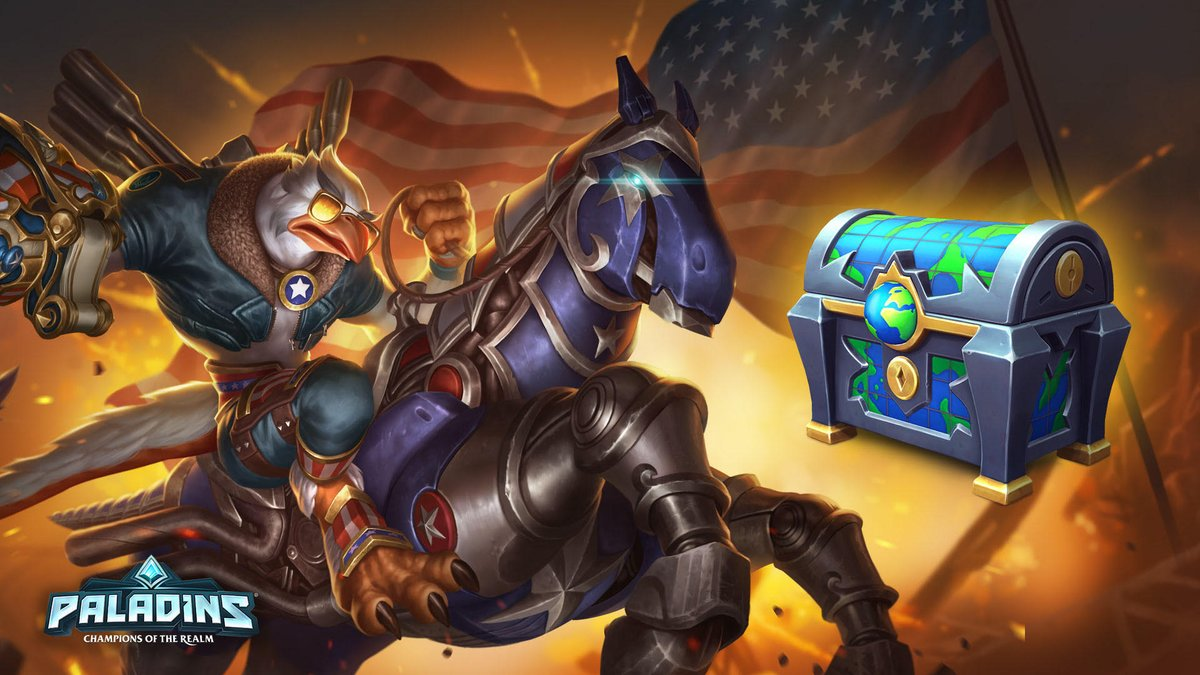 The all new World-Wide Chest is here today! Get our newest Freegle Drogoz skin, Merican Mustang Mount, and a chance at some other favorites all around the Realm.