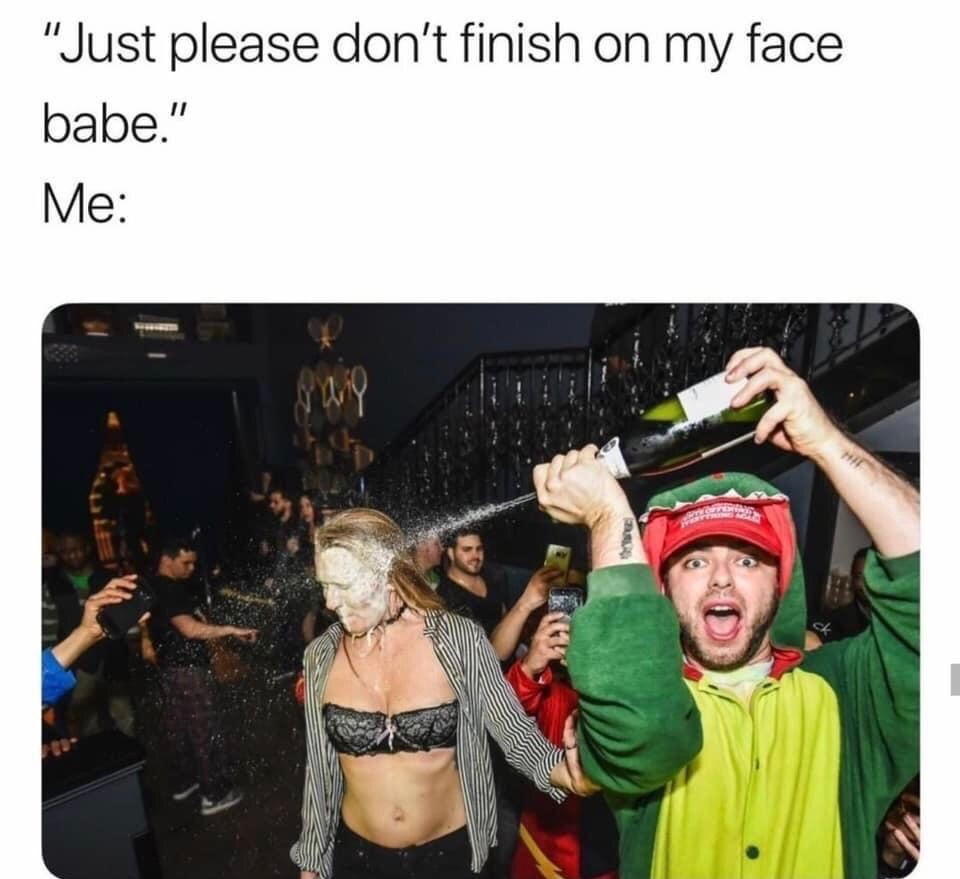Please don't finish on my face  #adulthumour #retardmemes #meme #sexyjokes #lovetolaugh #blacklingerie #partytime #hillariousmemes #edgymeme #humours #relatablememes #funnybuttrue #sexywoman #toofunny #memetime #fuckedmemes #edgymemes #womenlingeriesexy #hystericalpic.twitter.com/S36y86M74W