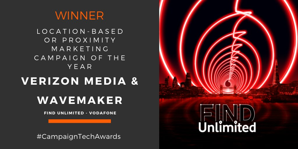 And the award goes to #Vatoms. Congratulations to @verizonmedia and Wavemaker!