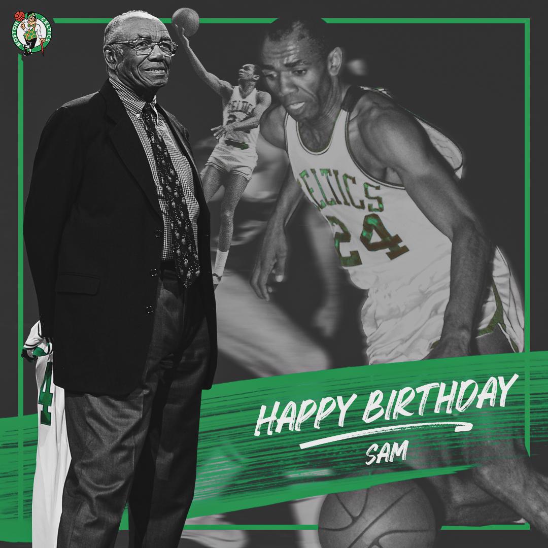 Happy birthday to 10x @NBA Champion, 5x @NBAAllStar and #Celtics Legend Sam Jones ☘️🎂🎉
