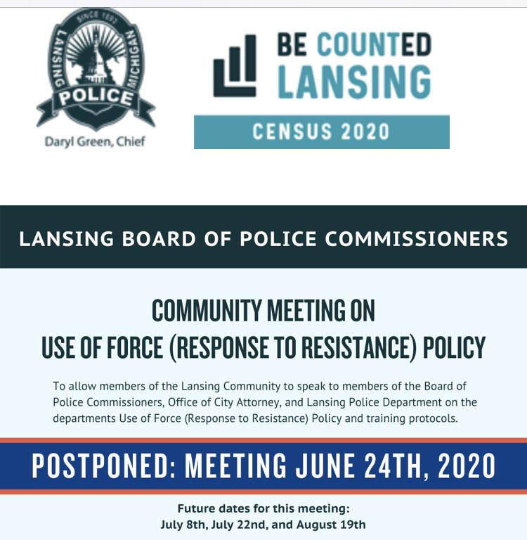 Official announcement from LPD: