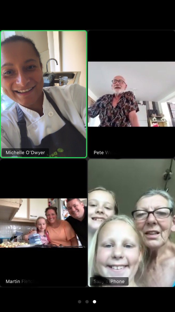 Another busy day teaching via zoom. Adult education where the family join in, fantastic 😊 Today's classes were all about making fresh dough for pizza or different breads #education #Food #adults #family #teaching #Zoom