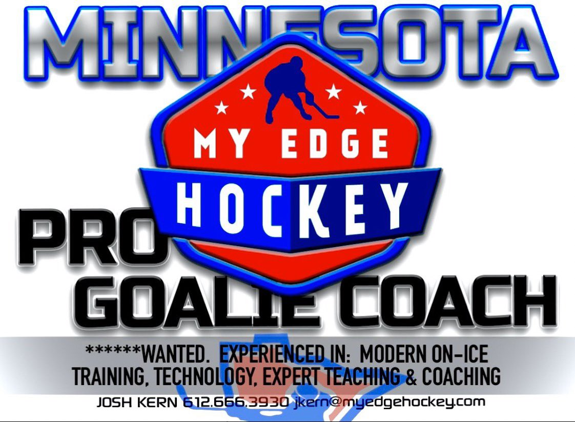 MyEdgeHockey is expanding its operations and looking for professional hockey instructors and coaches. We are looking for Goalie and Skating Coaches. Contact Josh Kern 612.666.3930 or jkern@myedgehockey.com #trainlikeabeast #myedgehockey #realdealhockey <br>http://pic.twitter.com/fxOv08THif