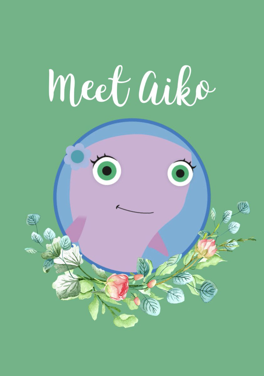 """Meet Aiko, the talkative purple whale from our Aiko & Egor App! 💜 Aiko loves to play with her best friend Egor and explore the ocean. She plays the """"kid role"""" in our videos. Children can imitate Aiko to learn new skills. She loves to learn, play with toys, and make new friends!"""