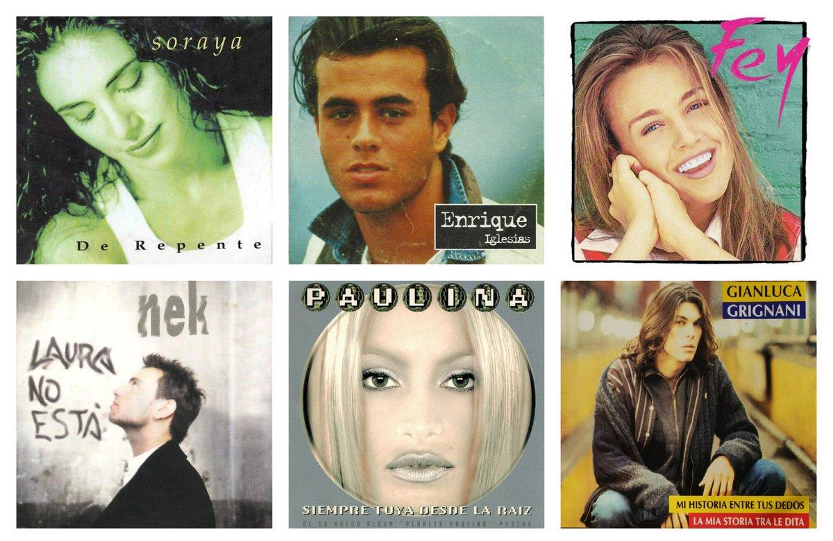 ¿Que Clásico De Los 90'S Les Gusta Más? #Soraya - #DeRepente @enriqueiglesias - #PorAmarte @officialfey - #MediaNaranja @NekOfficial - #LauraNoEstá @PaulinaRubio - #SiempreTuyaDesdeLaRaíz @grignanipage #MiHistoriaEntreTusDedos
