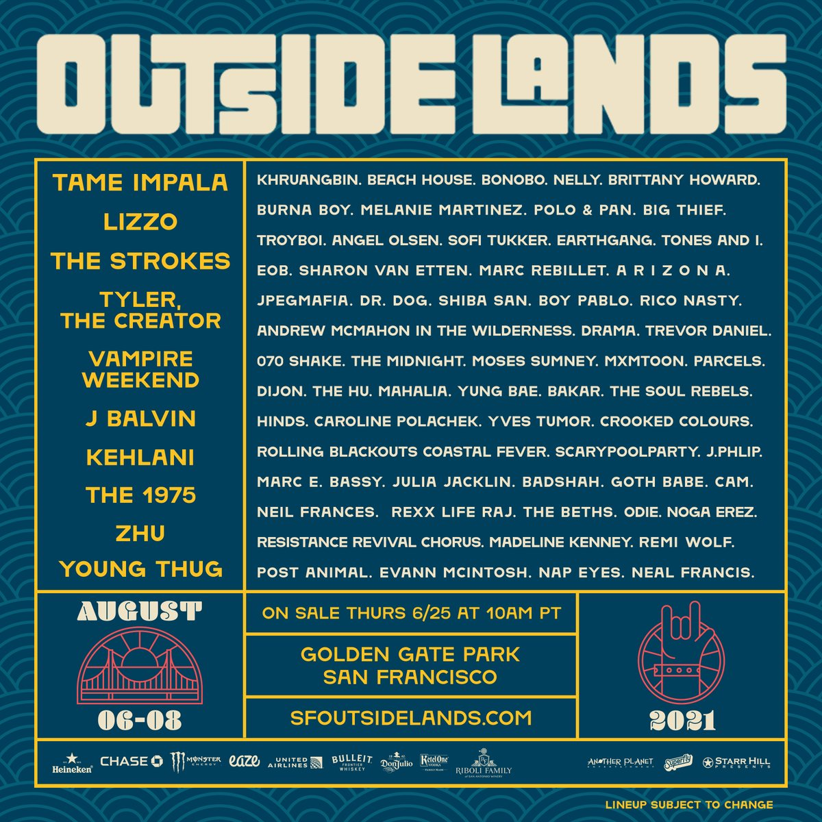 Outside Lands 2021 lineup