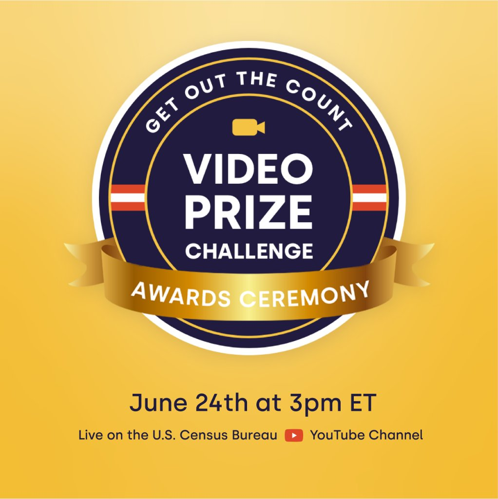 Watch as we announce the winners of the Video Prize Challenge. #CensusVideoChallenge go.usa.gov/xw7aR