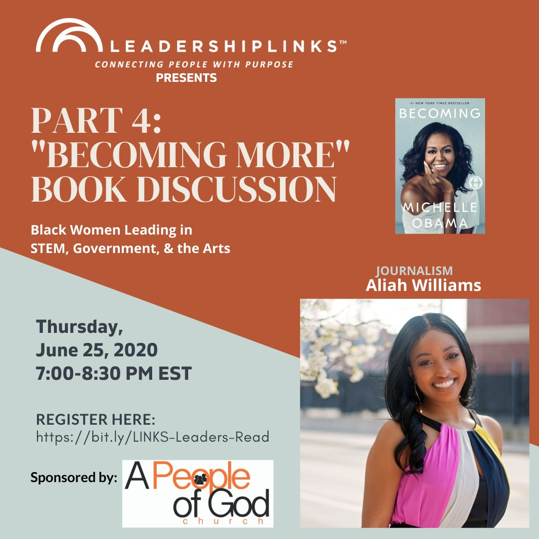 """Join Natasha Sistrunk Robinson and her interview with news journalist Aliah Williams of WDTN news in Dayton, OH as they discuss """"Becoming More"""" from the book Becoming by @MichelleObama. @aliahtnews #WatchBecoming #LINKSLeadersBecoming #MentoringResourceCenter #LINKSLeaderStories"""