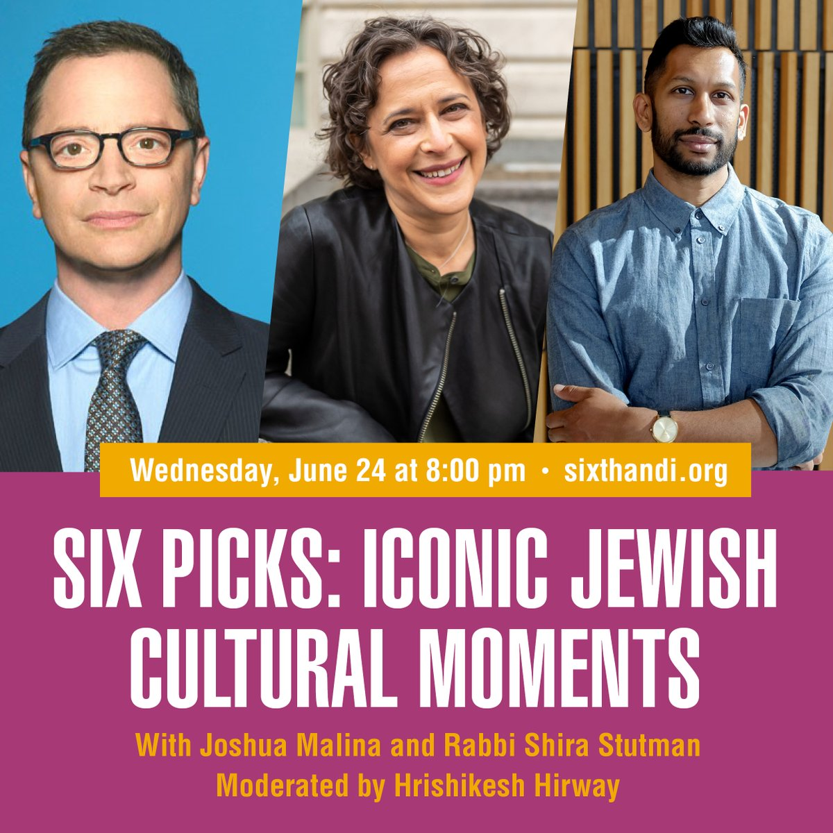 Whats next? @JoshMalina and @rabbishira share some of their all-time favorite Jewish moments across film, TV, books, and plays TONIGHT at 8:00 pm EST in conversation with @SongExploder and @WestWingWeekly host @HrishiHirway. RSVP: ow.ly/dJ4W30qT7XK