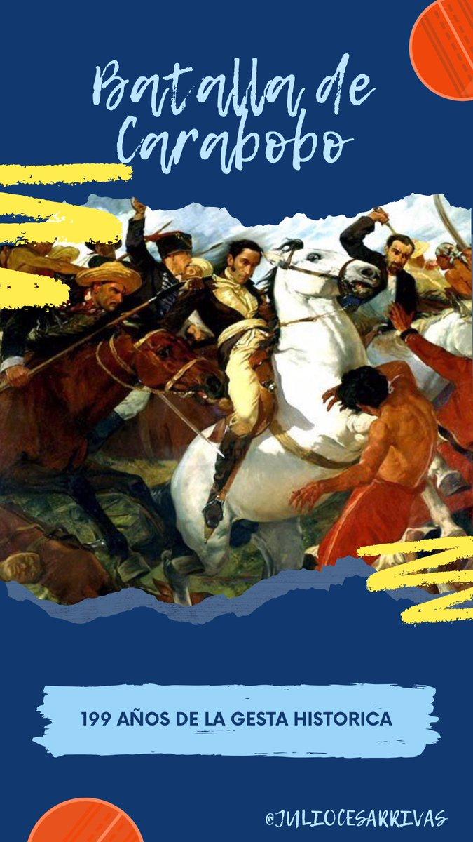 199 años de la Gesta Histórica.  Batalla de Carabobo. https://t.co/vl0MXYsk78