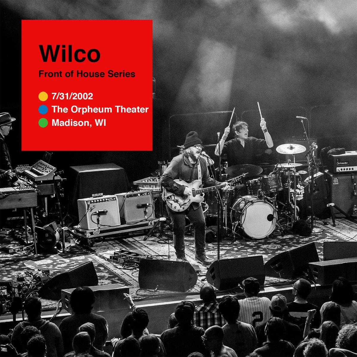 . @Wilco's June Front of House archival release is here! Open the https://t.co/oJslXk5RQo app and listen to 7/31/2002 from The Orpheum Theater in Madison, WI today: https://t.co/UM6O3z1JPH https://t.co/10nS0r0I9Q