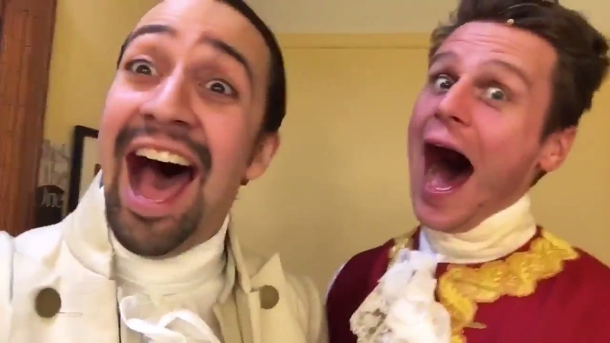 They finish each others... sandwiches. Hard to find a better duo than @Lin_Manuel and Jonathan Groff! Catch them July 3 on @DisneyPlus. #Hamilfilm