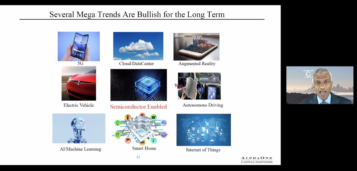 Valuable perspective from one of our industry's leading financials and markets experts @DanielTNiles, brought to zoom by @GlobalSemi. Beyond short term bleakness and #COVID19 uncertainty lies an exciting & dynamic application landscape being enabled by #semiconductor innovation😉 https://t.co/W4X9tF6BpZ