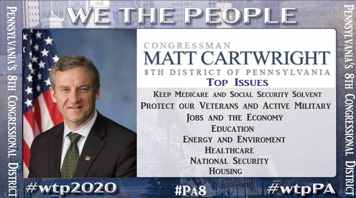 @RepCartwright  Our fair share of the fed tax money that we pay needs to be put to work for us in our economy to create better-paying jobs & make it a better place for our kids.  🌊Help Cartwright keep #PA8 blue!   #wtpPA #OneV1 https://t.co/keF3wBBy2k