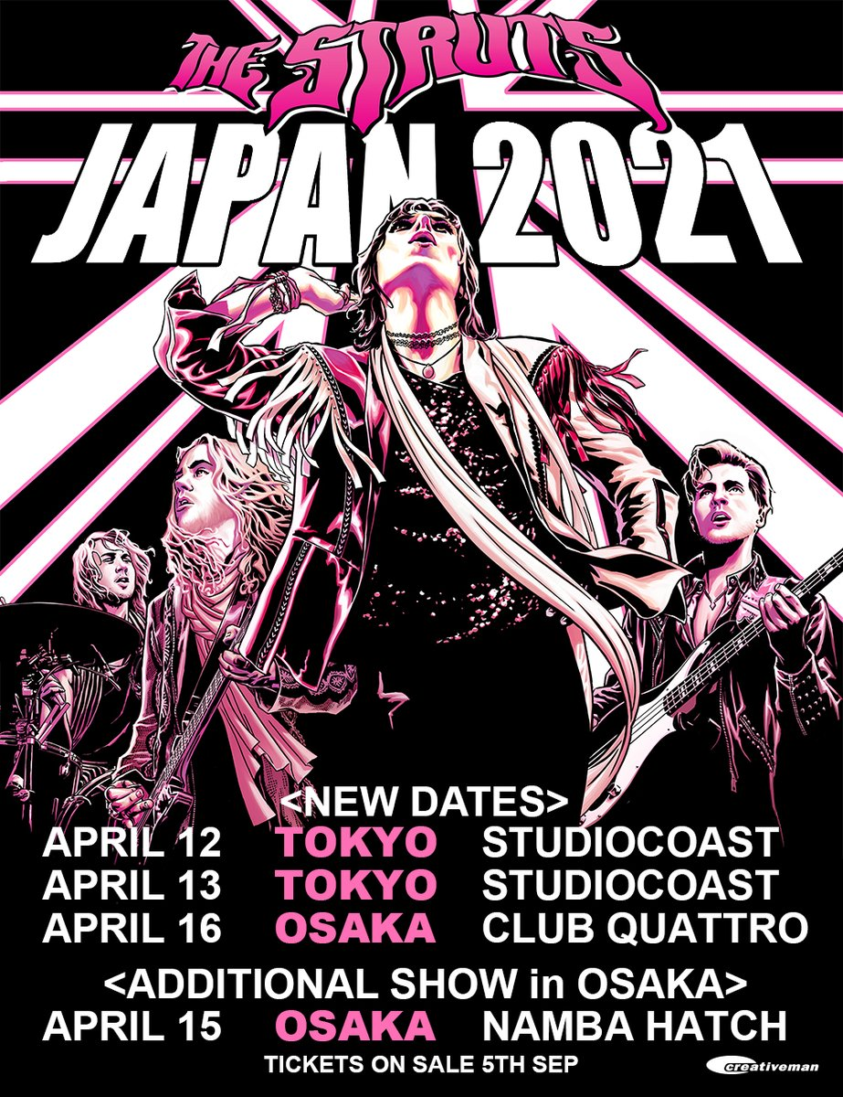 JAPAN we are thrilled to announce our rescheduled tour dates for 2021 PLUS an additional show in Osaka! Previously purchased tickets will be honoured for the new dates. For more information please visit https://t.co/DkzgeZklXW and we will see you soon x https://t.co/PSesbjJwOe
